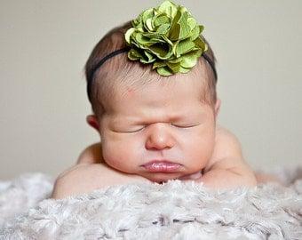 Newborn Headbands.Satin Flower Headband.Infant Flower Headband.Silky Satin Flower.Newborn Flower Headbands.Baby Girl Hair Accessories