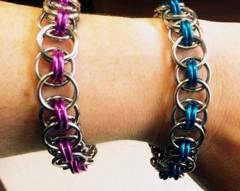 Chainmaille bracelet, Helm chain weave