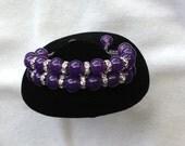 Women Shamballa Bracelet-Purple
