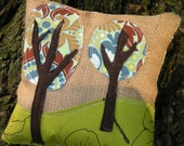 Walking in a Forest Child's Landscape Applique Pillow