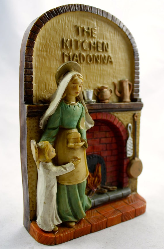 Vintage The Kitchen Madonna Plaque Made In Italy