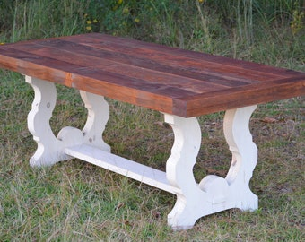 Farmhouse Table White-shipping included