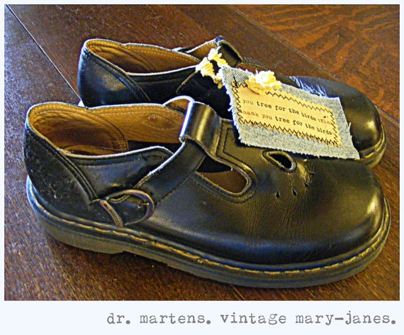 Vintage Doc Martens. Mary Janes. Yum.