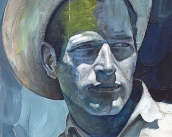 Portrait of Paul Newman - 8x10 Archival Art Print by Scott Laumann