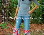 DEPOSIT-custom upcycled plus size jeans made to order you send in your jeans