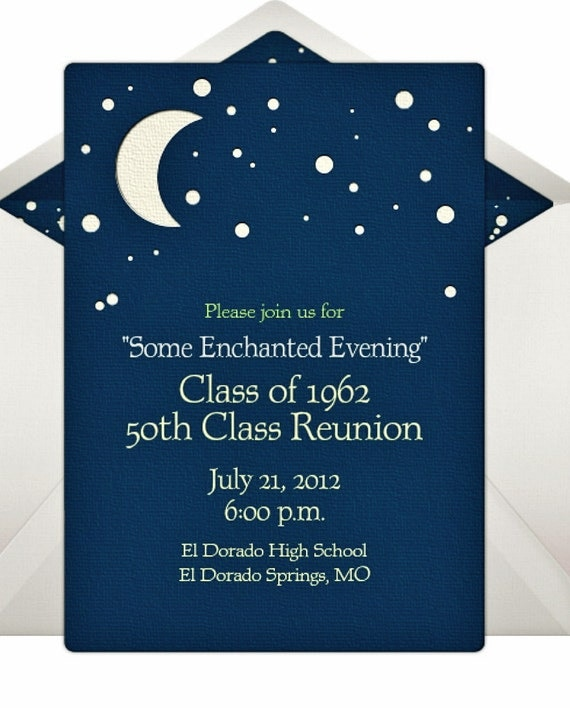 Items similar to 50th Class Reunion Invitation Reunion Class