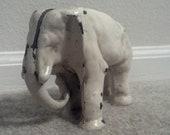 Vintage elephant door stop bookend cast iron africa collectible elefant