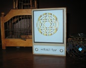 Bar  Mitzvah/Mazel Tov -Handcrafted Greeting Card