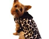 Dog Coat, Cheatha Fur with Mink Collar