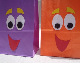 "PARTY PACK Dora ""Backpack"" and Diego ""Rescue Pac"" Favor Bags"