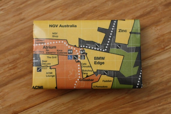 Federation Square Map Envelope Card Holder Wallet