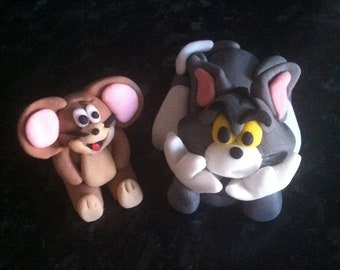 Edible tom and jerry cake topper cake decoration