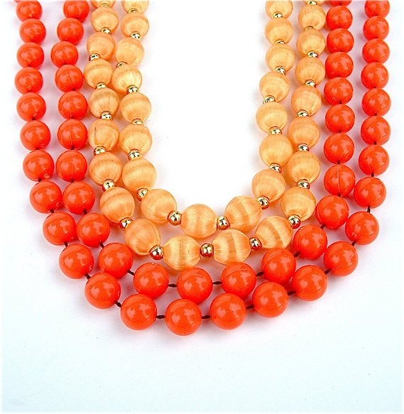 Vintage Jewelry Lot Autumn Sunset Pumpkin Orange Fall Fashion Necklaces Halloween Jewelry