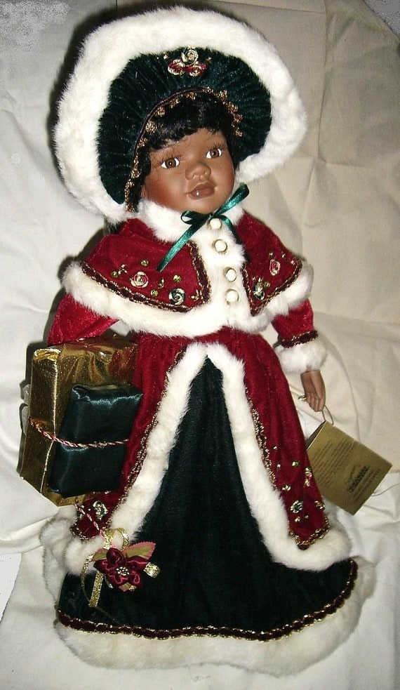 African American Seymore Mann Porcelain Doll Christmas In July