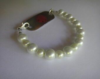 Merangue medical bracelet