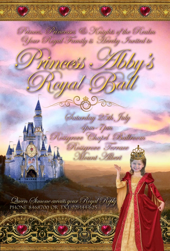 Princess Party (Royal) Printable Invitation - with Photo