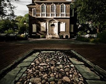 Cityscape Photography - Carpenters Hall Philadelphia -  8x12