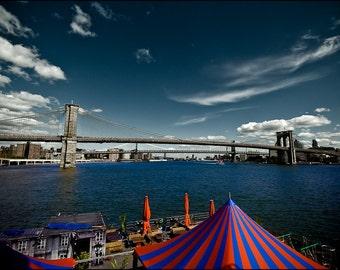 Cityscape Photography - Brooklyn Bridge, New York -  8x12