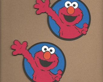 2- 4 inch tall Elmo Cricut Die Cut