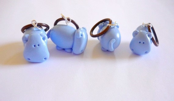Stitchmarkers: Hippos (set of 4)