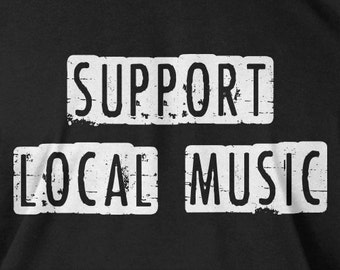 Funny Band T-Shirt Jam Band Open Mic Night Support Local Music T-Shirt Gifts for Dad Tee Shirt Mens Ladies Womens Youth Kids