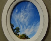 Toon Town Sky - Small Oval Wooden Magnetic Frame