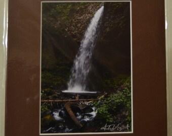 SALE - 5x7 prematted print - photograph - fine art - home decor - Love in the Stream - Upper Latourell Falls, Columbia River Gorge, OR