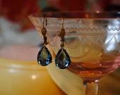 Tardis Blue Vintage Rhinestone Earrings