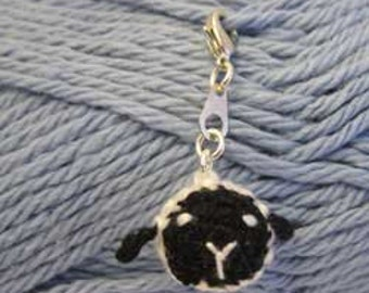 Little Sheepy Head Stitch Marker - Crocheted / Handcraft