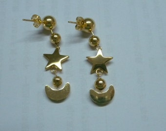 Sailor Cosplay Moon PGSM Earrings Pearls Gold Custom Doll prop Anime