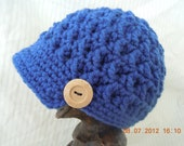 Newsboy Style Boys or Girls Crochet Hat, Made to order in any color combination!