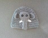 Crochet Baby Boy Hat Elephant Hat/Beanie