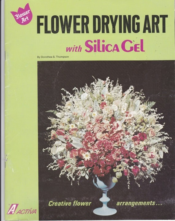 Vintage Craft Book Flower Drying Art With By