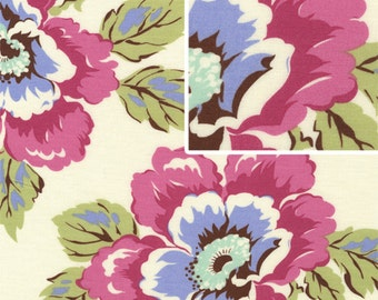 Wild Poppy in Linen fabric Gypsy Caravan by Amy Butler 2 yards