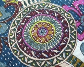 Cotton Kantha Quilt Handmade Throw Reversible Bedspread New Gudri - NGQ17