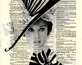 Audrey Hepburn My Fair Lady Print, Audrey Hepburn Art, Dictionary Page