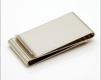 Personalized Quality Double Sided Money clip - Free Engraving
