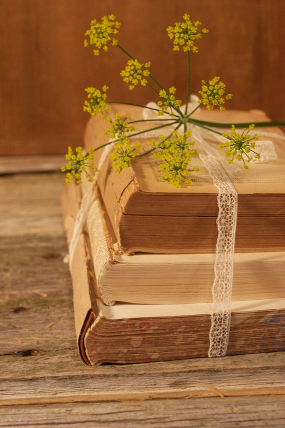 Items similar to Antique Book Bundle for Vintage Wedding ...