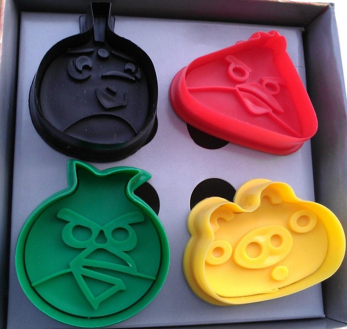 Angry Birds Cookie Cutter Plungers By Torispartykitchen On