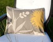 Yellow Floral Field 12x16 inch lumbar pillow cover, throw pillow, home decor