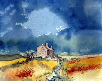 Stormy sky over Stone Barn