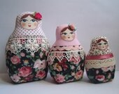 A Set of Soft Matryoshkas (matrioshkas) cloth Russian babushka dolls