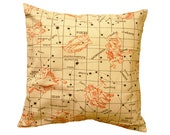 Constellation Inspired Pillow Cover from Vintage Fabric