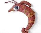 Soft Sculpture Creature Shula the Shrimp