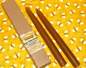 """Hand Dipped Beeswax Candles, Set of (2) 10"""", Made in SW Wisconsin at Sugar Ridge Ranch --FREE SHIPPING in the U.S."""