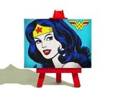 Wonder Woman Mini Canvas and Easel Set - The Perfect Gift