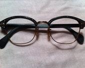 Vintage American Optical 5 1/2  Browline Eyeglass Frames- New Old Stock