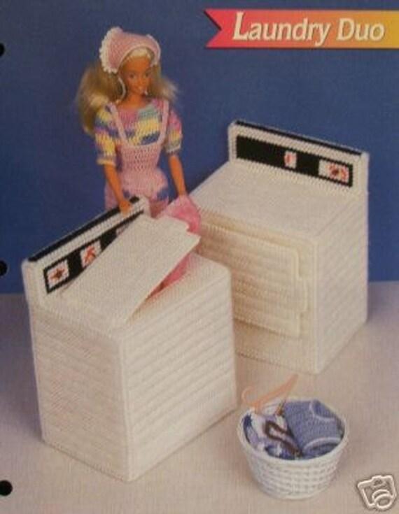 Plastic Canvas Barbie Fashion Doll Pattern Washer Dryer