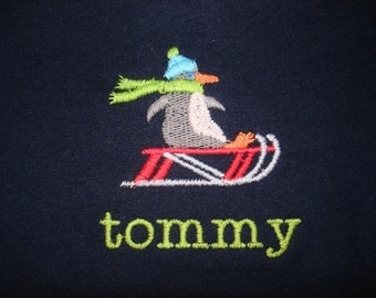 Toddler Long-Sleeve Tee, Custom-Embroidered