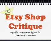 Etsy Shop Critique. Sell More at Your Handmade Shop
